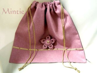 【SALE】バッグインナー(巾着)ピンクの画像
