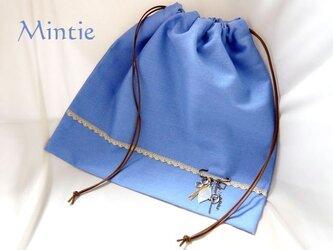 【SALE】バッグインナー(巾着)ブルーの画像