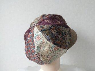 魅せる帽子☆ふんわり♪シルクプリントのグラデーションキャスケットの画像