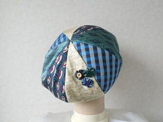 魅せる帽子☆ふんわり♪シルクのグラデーションベレーの画像