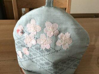 セール ヴィンテージ紬の茶帽子 淡墨桜の画像