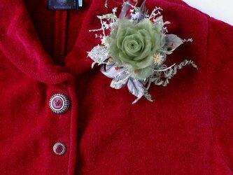 カーニバルの巻き薔薇 * シルクオーガンジー製 * コサージュの画像