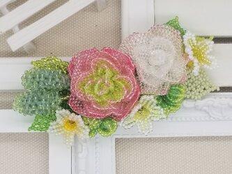 バレッタ Bouquet  (ピンクラナンキュラス)の画像