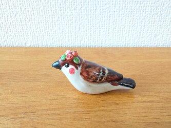花小鳥/小(陶)スズメ・薔薇の画像