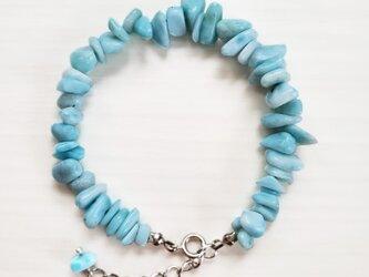 新ラリマー ブレスレット New Larimer bracelet B0001の画像
