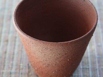赤土の焼締シンプルカップの画像