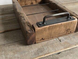 数量限定 OWB-S 古材 ボックス アイアン 木箱 収納 ビンテージ ウッドボックスの画像