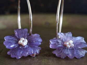amethyst flower pierceの画像