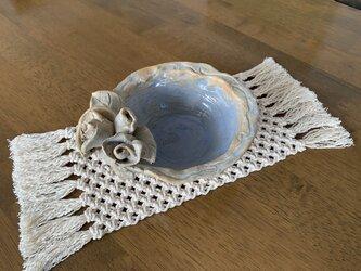 【再販売】ちょっと細長く小さなマクラメ編みのマットの画像