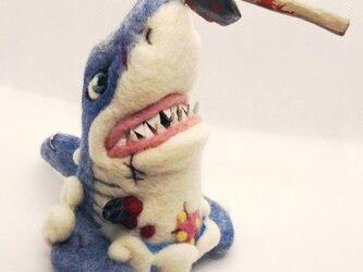 羊毛フェルト☆サメの先輩のオブジェの画像