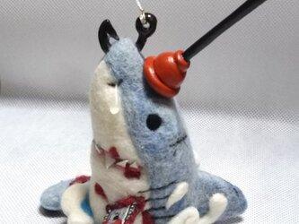 羊毛フェルト☆サメのホオジローのオブジェの画像