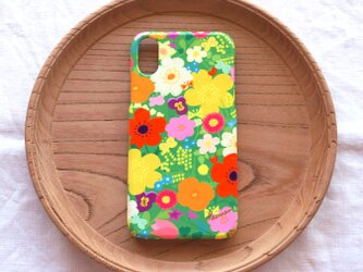 【iPhone/Android】側表面印刷*ハード型*スマホケース「happy garden (green)」の画像