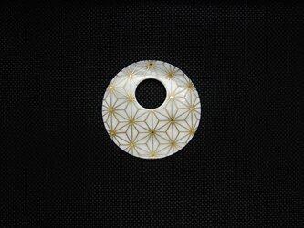 イケチョウ貝 麻の葉蒔絵ペンダントの画像