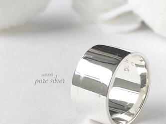 送料無料✴︎12㎜平打リング 純銀  purecubicの画像