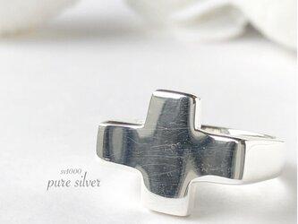 送料無料✴︎ずっしりクロスリング 純銀  purecubicの画像