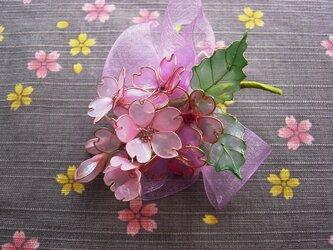 河津桜2(クリップ付コサージュ)の画像