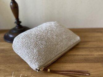 [再販]pouch[手織りポーチ] ホワイトの画像