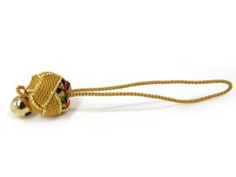 組み紐 くみひも 根付 砂金袋 5 ストラップ 黄色 京都の画像
