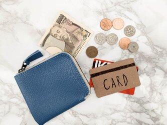 ▲L-SLIM さわやか気分でおでかけしたくなる青「エルスリム 財布」薄型L字ファスナー(LSW-TT-T)の画像