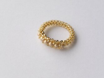 Crystal Anteque Ring /ゴールドの画像