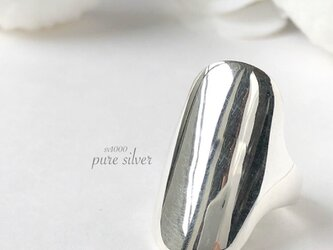送料無料✴︎ずっしりsimpleデザインリング 純銀  purecubicの画像