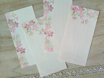 消しゴム版画「一筆せん(桜)」の画像