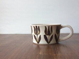 スープカップ 鉄絵チューリップの画像