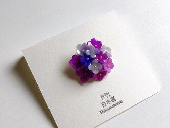 お花ブーケのブローチ(紫色)(送料無料)の画像