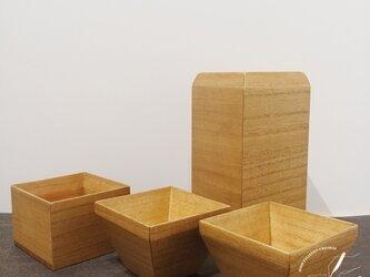 桐の酒器 箱酒器/ヤシャブシの画像