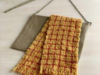 琉球カラーの飾り布 ショルダーバッグの画像