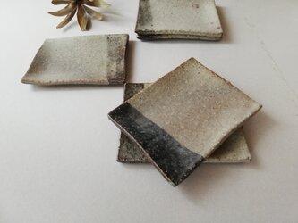 マット灰釉小皿(5枚セット )の画像