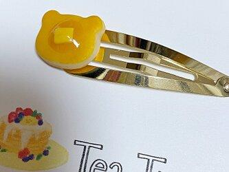 くまパンケーキのヘアピンの画像
