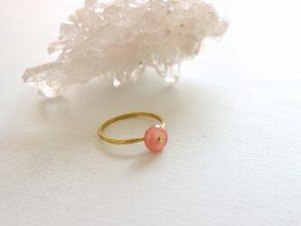 桜*ロードクロサイト*Brass Point Ring*真鍮リング*no.403の画像
