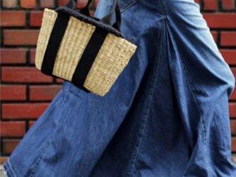 【受注製作】 デニム生地 スカートT098の画像
