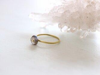 ラブラドライト*Brass Point Ring*真鍮リング*no.404の画像