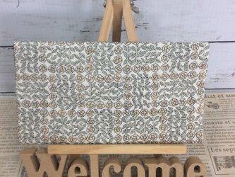リバティ スリーピングローズの生地で仕立てた袱紗     ふくさの画像