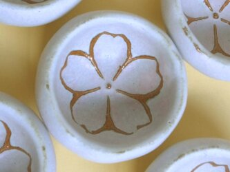 ほんのりピンクの桜豆皿の画像