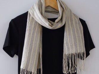 草木染め 手織りシルクストール ST19の画像