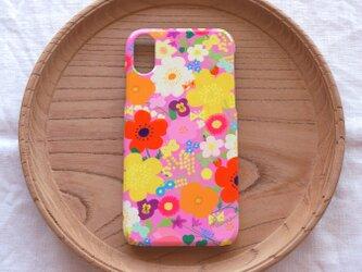 【iPhone/Android】側表面印刷*ハード型*スマホケース「happy garden (pink)」の画像