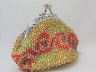 ビーズがま口(うずまき花その1)の画像