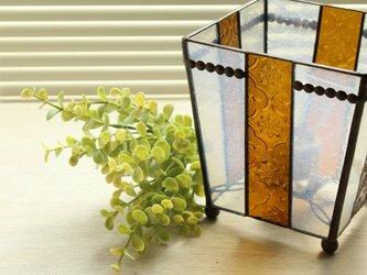 フローラガラスのテーブルランプの画像