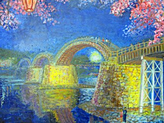 夜桜 『錦帯橋』の画像