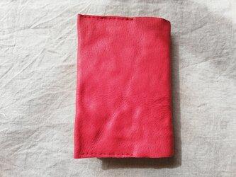 ブックカバー ピッグスキン チェリーレッド の画像
