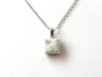 結晶釉タイルのネックレス Bの画像