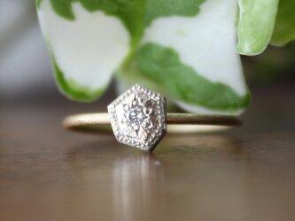 Fragment Diamond ring K18YG*K10WG FMR-01AWGの画像