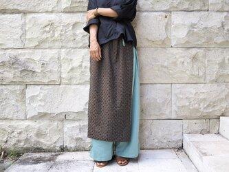 《新柄》総刺繍/ラップスカート風パンツ《ラムネ色》の画像
