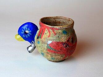かわいい犬のマグカップ/陶芸家がつくる/珍しい器/おしゃれで可愛い/アート マグカップ/現代陶芸の画像