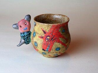 犬と少女の可愛いマグカップ/陶芸家がつくる/珍しい器/おしゃれで可愛い/アート マグカップ/現代陶芸の画像