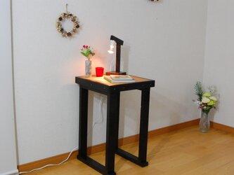 サイドテーブル38(チョコブラック) 高さ自由設計の画像