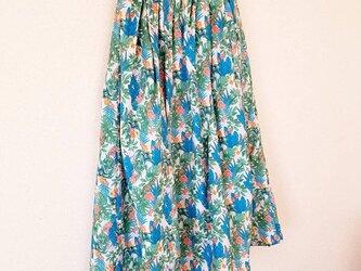タック&ギャザー スカート*ロング丈     ジャングルの画像